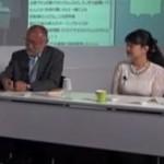 遺伝子組み換え食品を肯定する2人「唐木英明& 蒲生恵美」の講義。