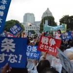 【国民覚醒!】6月24日「戦争法案を廃案に」平日の夕方に3万人が国会を取り囲む。身動きできないほどの人。