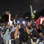 9/15国会前デモ「明日(9/16)は強行採決するらしい、8月30日くらい集まりましょう(奥田君)」