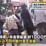 【バラマキ】自民、低年金者1000万人に3万円を1回支給を検討。民主、長妻代表代行 「選挙前に一応3万円をあげますよというのは、どう考えても国民をバカにしている」