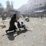 【記事】フランス軍の空爆でイラク人の子供数十人が死亡【写真】シリア内戦、砲火に晒される子供達
