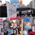 【神業】シールズのデモを右翼街宣車が妨害!が!!シールズはコールをやめず超ポジティブに対応!結果⇒路上ライブ状態に発展し大盛り上がり!