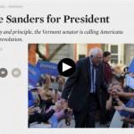 【異例】米民主党クリントン氏のライバル候補バーニー・サンダース氏を米名門ネイション紙が大統領に推薦!当ブログも推薦!
