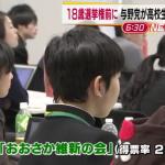【納得】高校生のイベントで模擬投票。1位:大阪維新2位:社民党