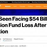 【日本の恥】「安倍政権が巨額年金損失(5兆4千億円)を夏の参議院選挙後まで公表せず」とブルームバーグが海外に報じる。