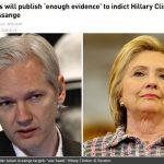 【警告】ウィキリークス・アサンジ氏「ヒラリー・クリントン氏を告訴するのに十分な証拠を発表する」