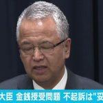 【捜査終了へ】検察審査会が甘利元大臣の不起訴は「妥当」の議決