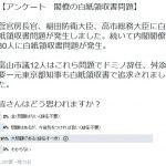 【民意】安倍内閣閣僚の白紙領収書問題「辞任すべき」91%(ツイッターアンケート)