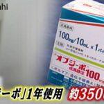【ショック】がん免疫薬「オプジーボ」が高いのは日本だけ!100ミリグラム「日本73万円」「米国30万円」「英国14万円」