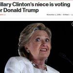 【混沌】クリントン氏が大ピンチ!姪はトランプ氏に投票!逮捕秒読みの噂も消えず!