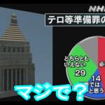 【驚愕】「テロ等準備罪(旧共謀罪)」必要46%:必要でない14%(NHK世論調査)