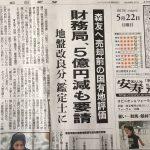 2017/05/22(月)プチニュース「財務局、地盤改良費5億円減も要請 森友への売却前評価」「「共謀罪」法案 賛成と回答した市民の多数、内容知らず」など