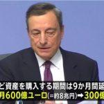 【恐ろしい】ECB(ヨーロッパ中央銀行)が量的緩和縮小へ⇒識者「日銀のみが取り残される構図」「日銀は量的緩和を未来永劫辞めることができない」