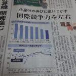 【日経1面】「日本の賃金、世界に見劣り」⇒ネット「最低賃金は欧米の半分」